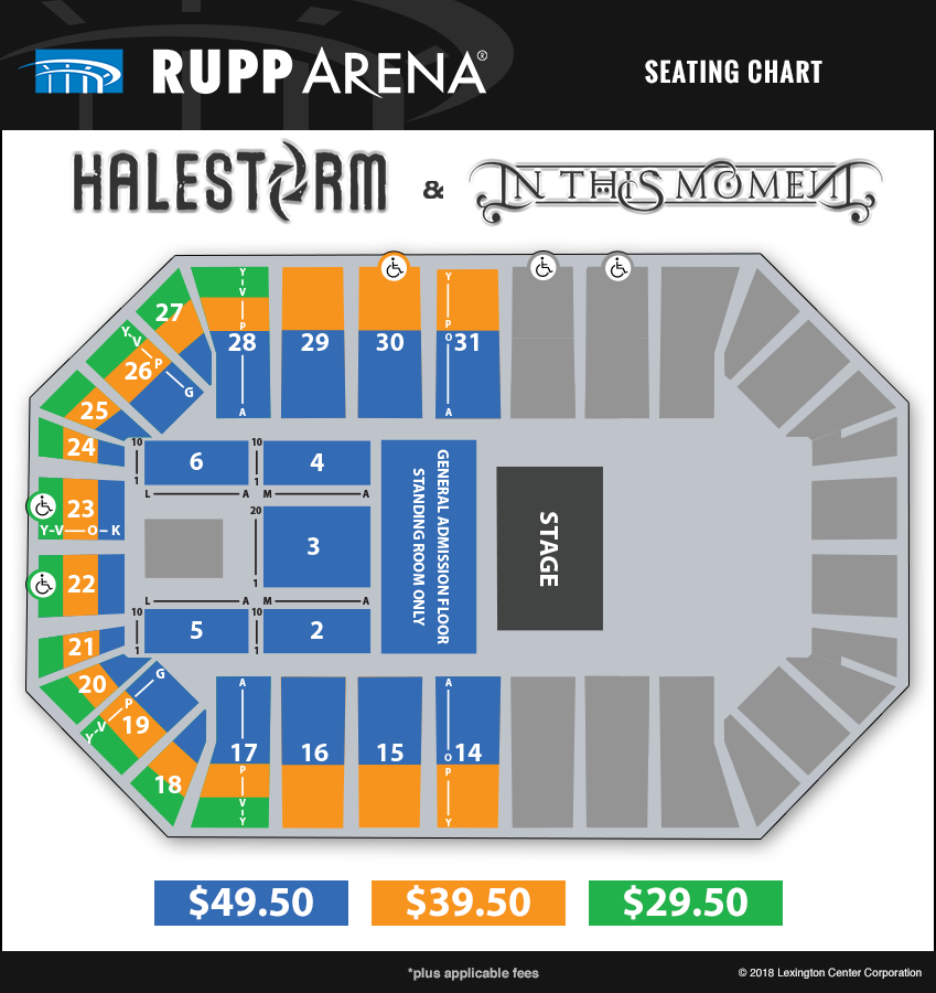 Halestorm in this moment rupp arena seating chart view seating chart stopboris Image collections